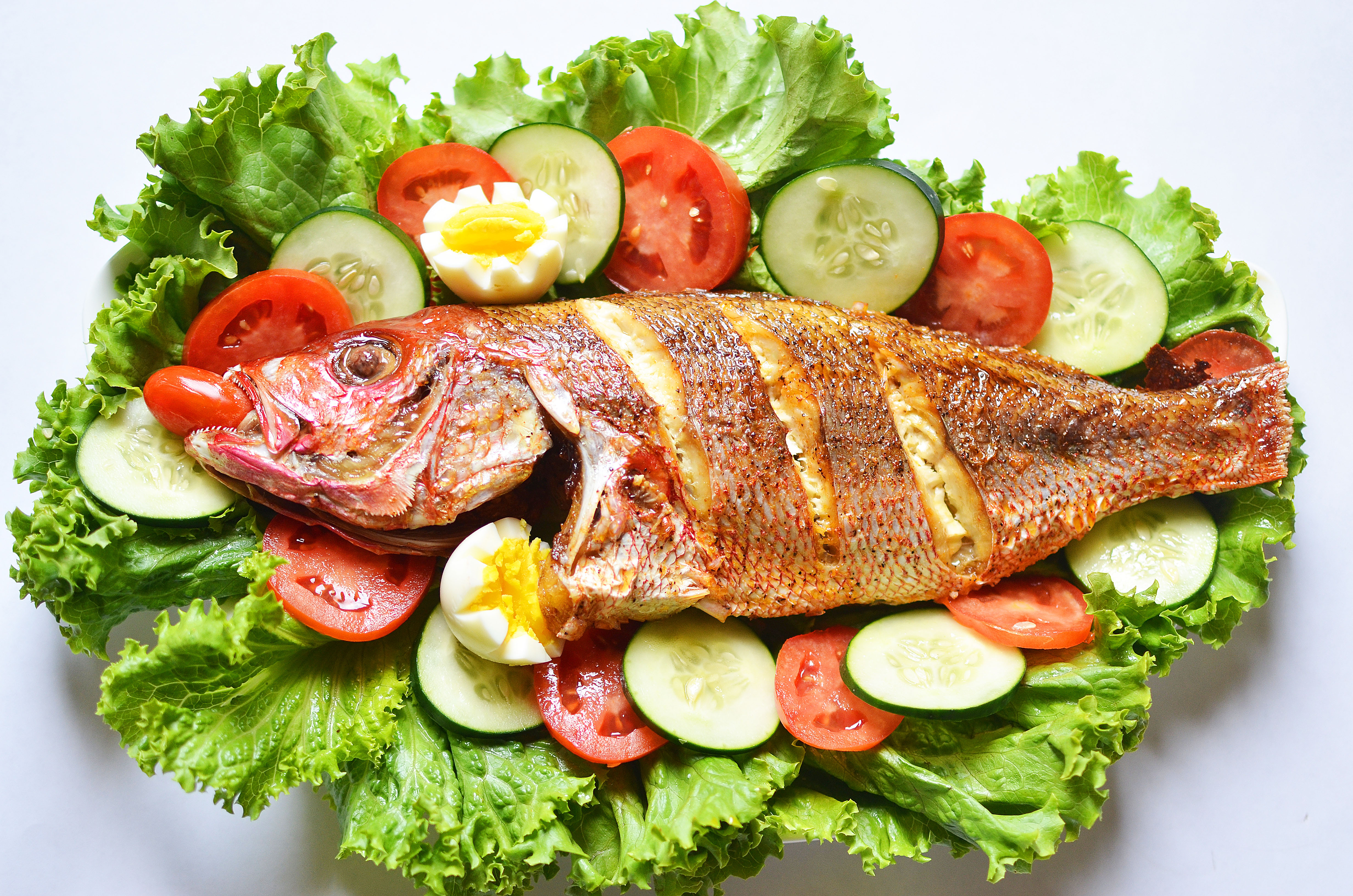 Roast fish salad for Fish and salad